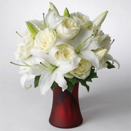 Elegant White Classic Vase Arrangement