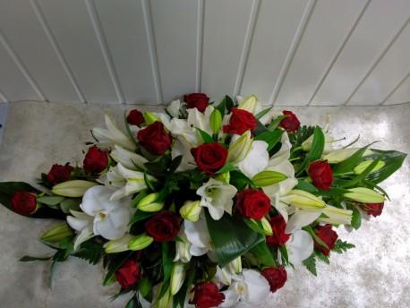 Casket Spray - Lillie & Roses