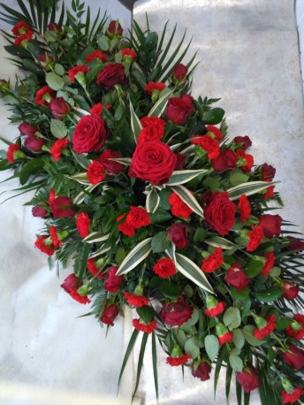 Casket Spray - Rose & Carnation