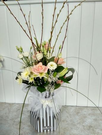 Floralbox - Pink & White