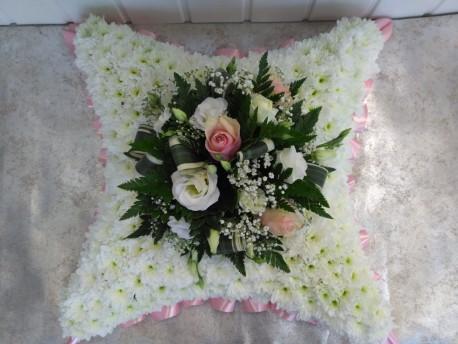 Cushion - Pink & White