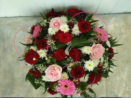 Wreath - Pink, Red & White