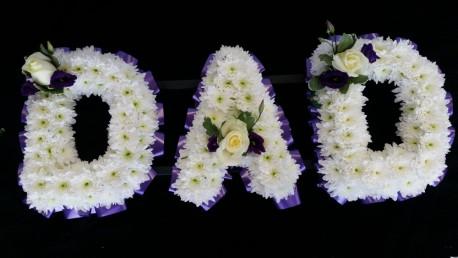 DAD - Purple & White