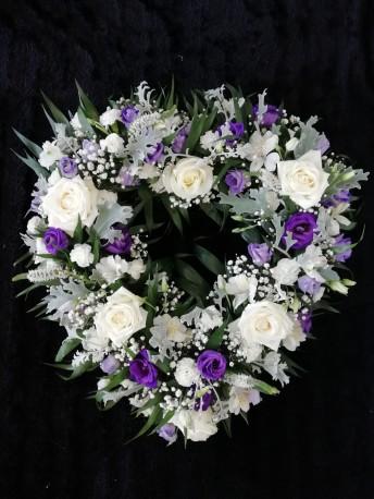 Loose Open Heart - Purple & White