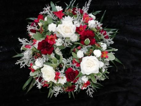 Wreath - Red & White