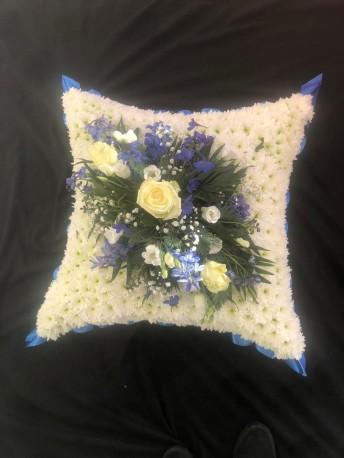 Cushion - Blue & White