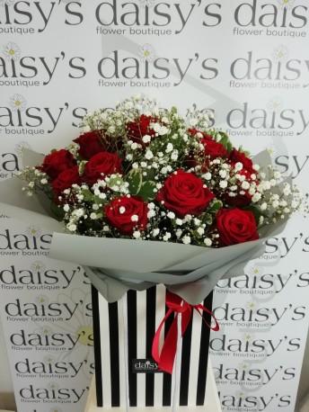 Dozen Luxury Red Roses