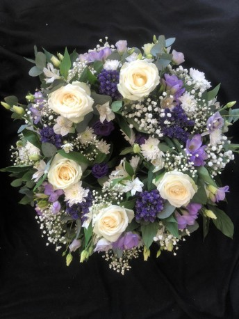 Wreath - Lilac, Purple & White