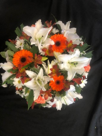 Wreath - Orange & White