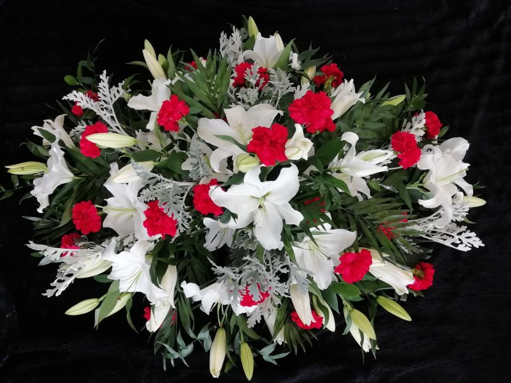 Casket Spray - Lillies & Carnations