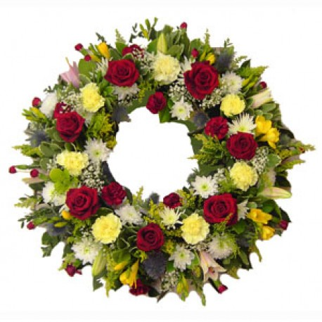 Red, White & Yellow Wreath
