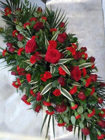 Rose & Carnation Coffin Spray