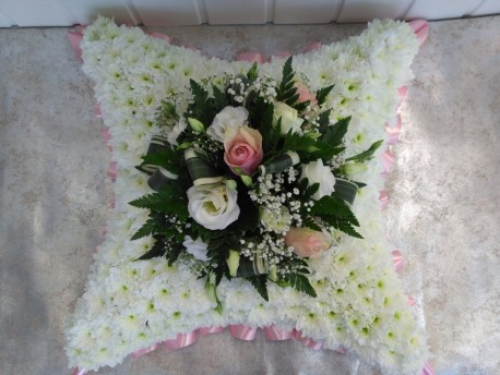 Pink & White Cushion