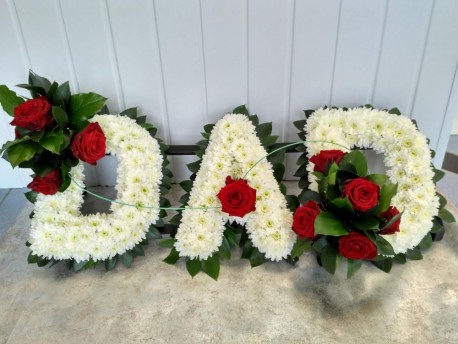 Dad tribute with foliage edge