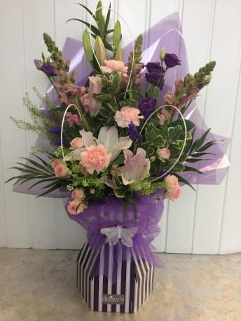 Purple Floral Box