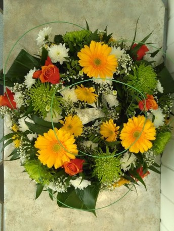 Yellow, Orange, Green Wreath