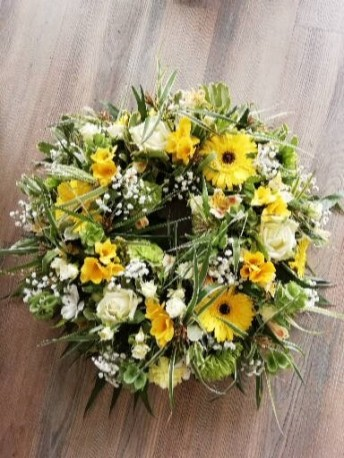 Wreath - Yellow, White & Green