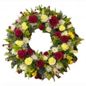 Wreath - Red, White & Yellow