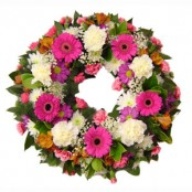 Pink & Orange Wreath