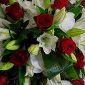 Casket Spray - Lillie & Roses