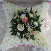 Cushion - Pink & White