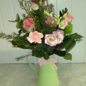 Handtied arrangement in a jug