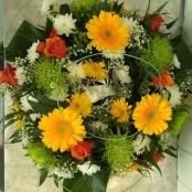 Yellow, Orange, Green Wreath