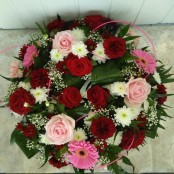 Pink, Red & White Wreath