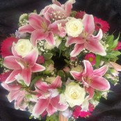 Wreath - Pink & White