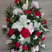Casket Spray - Red, Pinks & Whites