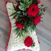 Pillow - Red & White