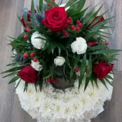 Red & Blue Massed Wreath