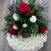 Red & Blue Massed Wreath