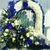 Gates Of Heaven - Blue & White
