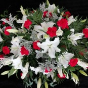 Casket Spray - Lillies & Carnations