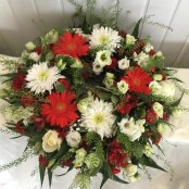 Wreath - Red, Green & White