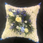 Cushion - Blue & White
