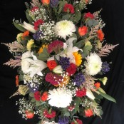 Colourful Casket Spray