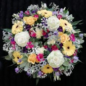 Wreath - Yellow, Pink & Purple