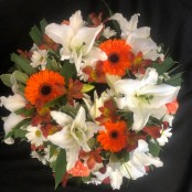 Wreath - Orange & White