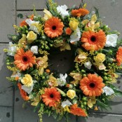 Wreath - Orange & Yellow